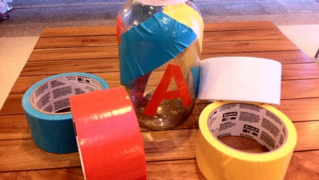 DIY Mason jar with Duct Tapes