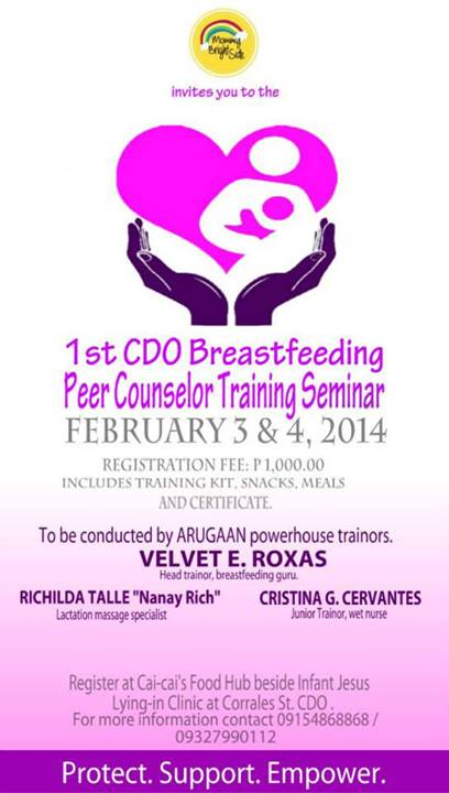 peer training counselor breastfeeding counseling cagayan oro