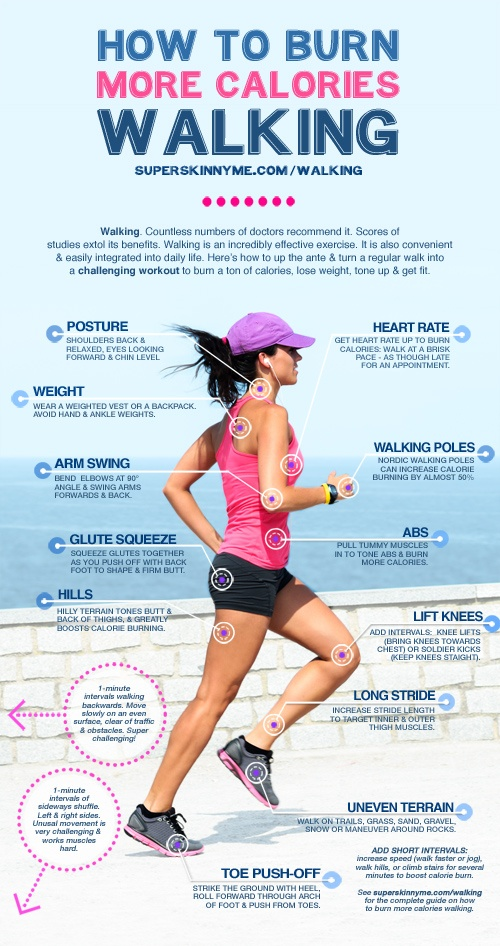 How To Burn More Calories Walking | Life of Que
