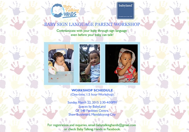 Baby sign language class 2015 schedule march