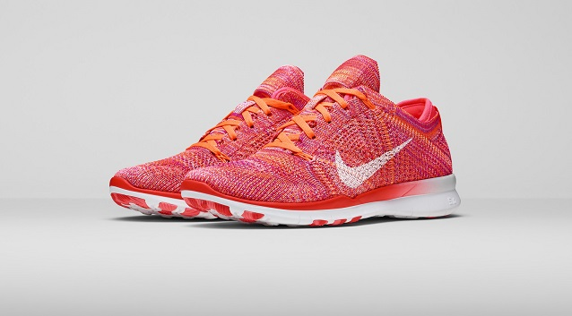 nike free tr flyknit pink training shoes