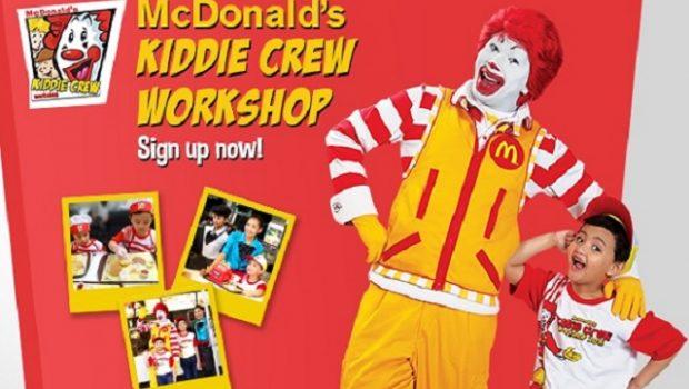 McDonald's Kiddie Crew Workshop 2016