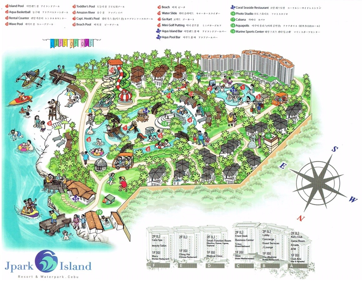 Jpark Island Resort and Waterpark Cebu Map