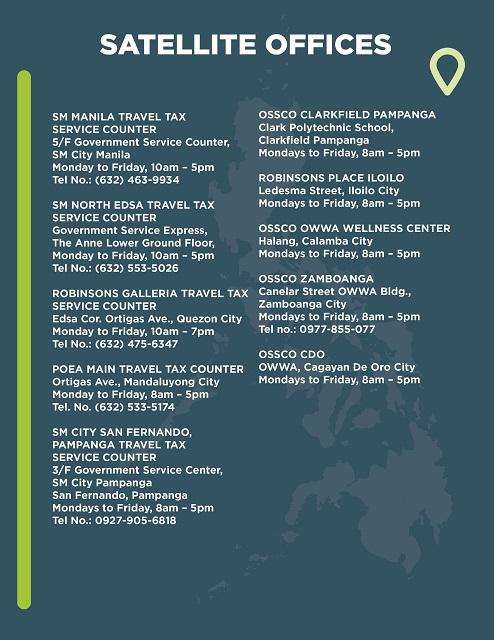 Philippine Travel Tax Satellite Offices