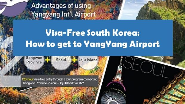 Flights to Yangyang Airport in South Korea